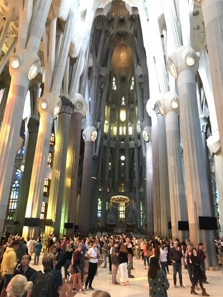Sagrada Familia inside.